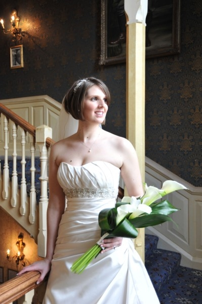 wedding-photography-york-staircase-bride