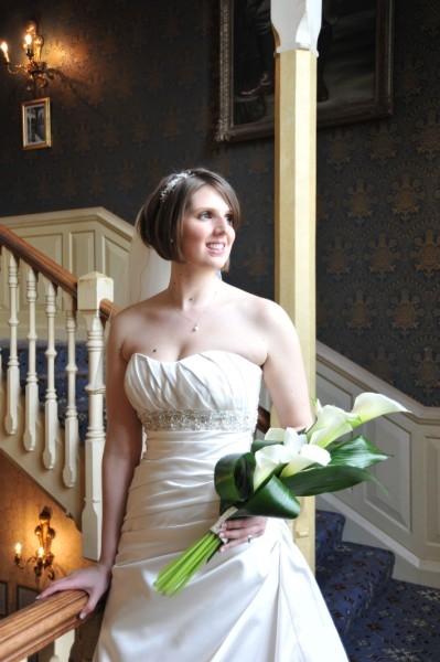 wedding-photography-york-staircase-bride
